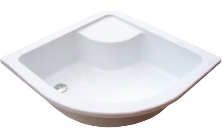 RAVAK SABINA 90 LA sprchová vanička 900x900mm akrylátová, štvrťkruhová biela A217001020