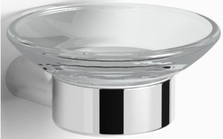 CONCEPT 200 STYLE držiak s mydlovničkou Ø106mm chróm / sklo 010-7846