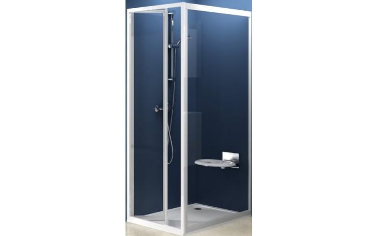 RAVAK SUPERNOVA PSS 90 pevná stena 870x905x1850mm jednodielna, biela / transparent 94070100Z1