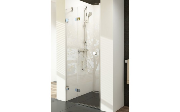 RAVAK BRILLIANT BSD2 100 sprchové dvere 990x1005x1950mm dvojdielne, ľavé chróm/transparent