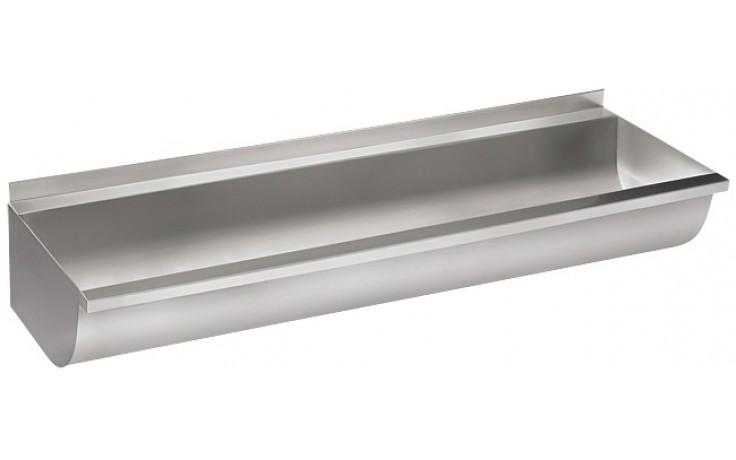 SANELA SLUN10KL umývací žľab 1250mm, zaguľatený, neopláštený, nerez mat