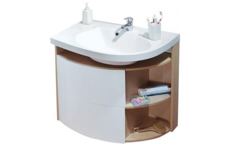 RAVAK ROSA COMFORT SDU L skrinka pod umývadlo 780x550x680mm ľavá, biela / biela X000000328