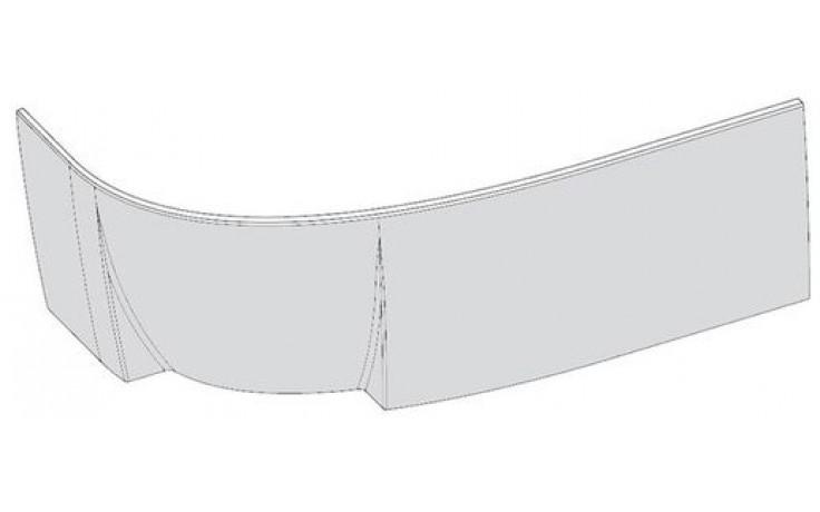 RAVAK ROSA 95 R panel A 1600mm čelný, pravý, snowwhite