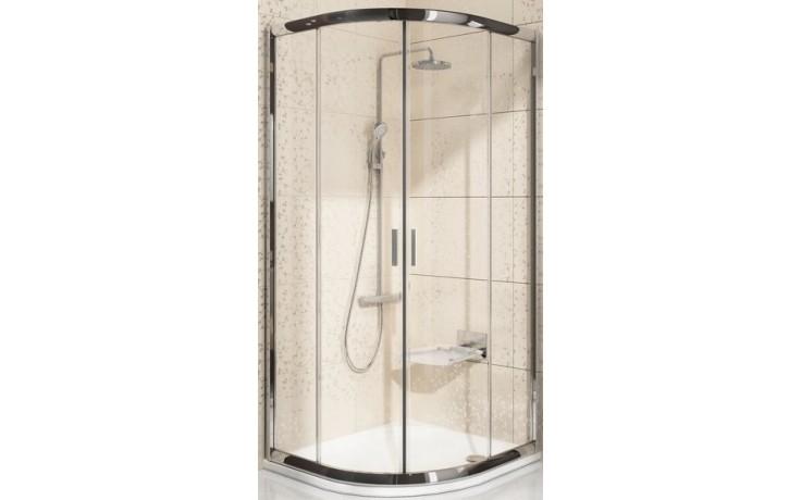 RAVAK BLIX BLCP4 80 sprchovací kút 775-795x775-795x190mm štvrťkruhový, posuvný, štvordielny bright alu / transparent 3B240C00Z1
