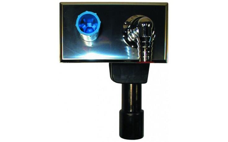HL zápachová uzávera DN40 / 50 podomietková vodná, pre práčky a umývačky, nerez oceľ / mosadz / PE-HD
