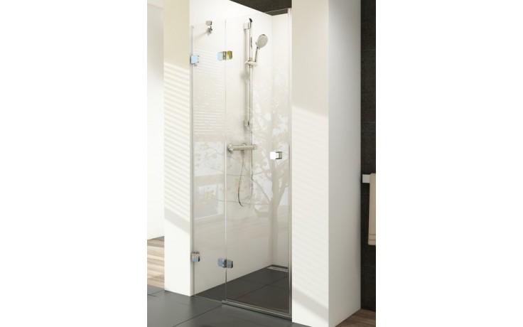 RAVAK BRILLIANT BSD2 90 sprchové dvere 890x905x1950mm dvojdielne, ľavé chróm/transparent
