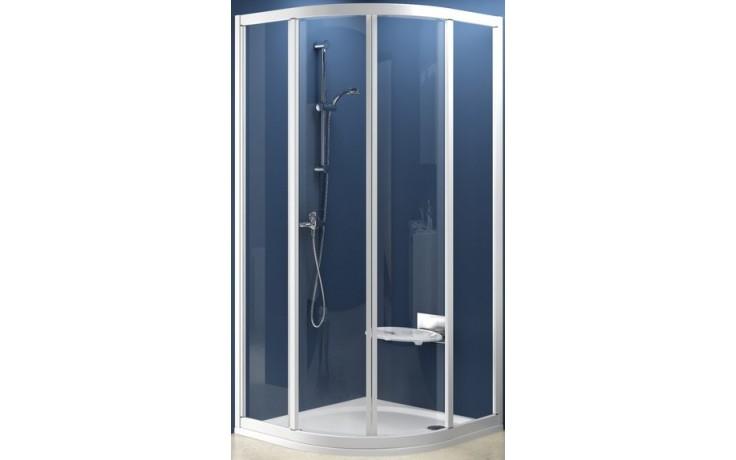 RAVAK SUPERNOVA SKCP4 90 sprchovací kút 875-895x875-895x1850mm štvrťkruhový, štvordielny, posuvný, satin / transparent 31170U00Z1