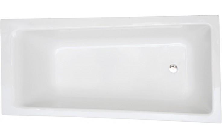CONCEPT 100 vaňa asymetrická 1700x750-850mm akrylátová, so sprchovou zónou, pravá, biela