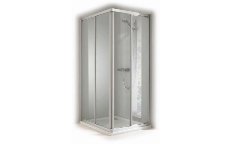 CONCEPT 100 sprchové dvere 900x900x1900mm posuvné, rohový vstup 2 dielny, biela/matný plast