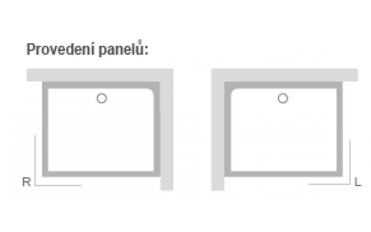 RAVAK GIGANT PRO SET L panel 1000x800mm ľavá XA83AL01010