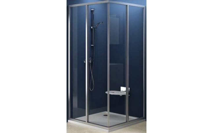 RAVAK SUPERNOVA SRV2-S 100 sprchovací kút 970x990x1850mm rohový, biela / transparent 14VA0102Z1