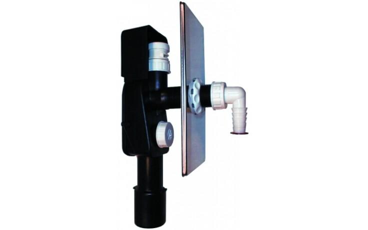 HL zápachová uzávera DN40/50 podomietková vodná, integrovaný privzdušňovací ventil, pre práčky a umývačky, nerez oceľ/polyetylén