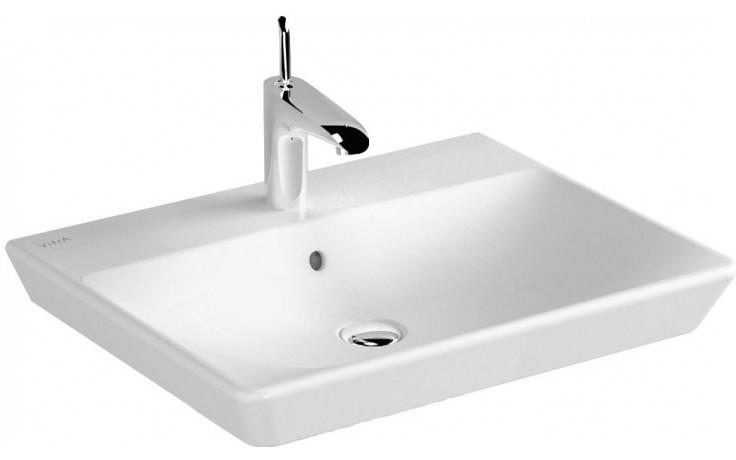VITRA T4 umývadlo klasické 600x470mm s otvorom a prepadom, biela