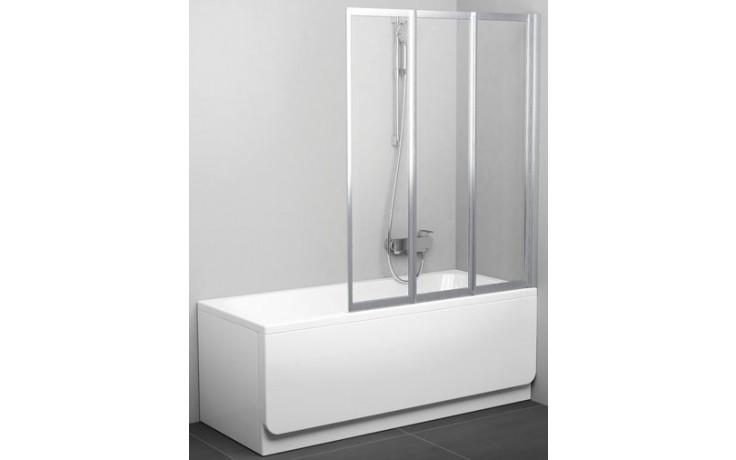 RAVAK VS3 130 vaňová zástena 1296x1400mm trojdielna, skladacie biela / transparent 795V0100Z1