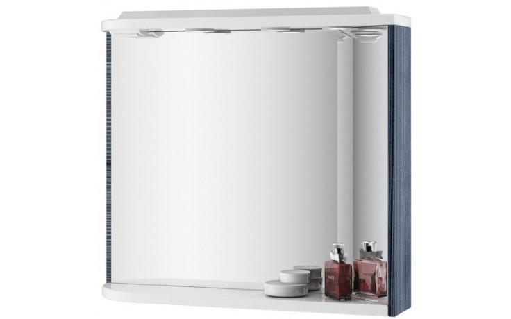RAVAK ROSA M 780 L zrkadlo 780x160x680mm s poličkou, svetlami, el. zásuvkou, ľavá, breza / biela X000000160