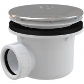 CONCEPT vaničkový sifón, pochrómované plastové veko, chróm