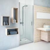 ROTH TOWER LINE TZNL1/800 sprchové dvere 800x2000mm ľave, zlamovacie pre inštaláciu do niky, bezrámové, brillant/transparent
