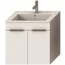 JIKA CUBE skrinka s umývadlom 650x430x607mm, biela / biela 4.5360.1.176.300.1