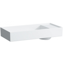 KARTELL BY LAUFEN umývadlová misa 750x350mm s tvarovaním pre armatúru, s 1 otvorom, bez prepadu, biela