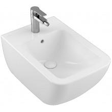 VILLEROY & BOCH VERITY LINE závesný bidet 375x560mm, s otvorom a prepadom, biela Alpin Ceramicplus