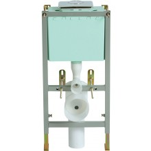 HERITAGE predstenový WC modul 800-1000mm, vrátane tlačidla zhora, oceľ/polystyrén