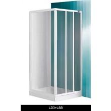 ROLTECHNIK PROJECT LD3/800 sprchové dvere 800x1800mm posuvné pre inštaláciu do niky, biela/grape