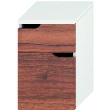 JIKA MIO skrinka stredná 363x340x571mm s 2 zásuvkami, biela / orech 4.3418.1.171.506.1