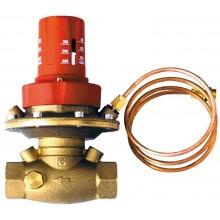 """HERZ regulátor tlakovej diferencie 1/2"""" 5-30 kPa priamy, s vnútorným závitom, mosadz"""