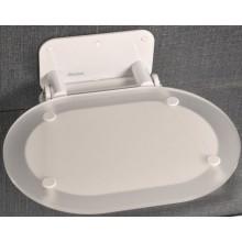 RAVAK OVO CHROME sedátko 410x365x95mm do sprchovacieho kúta, chróm clear / white B8F0000028