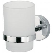 INDA STORM držiak s pohárom 8x12x10cm chróm/sklo