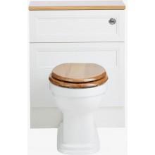 HERITAGE CLAVERTON WC misa 367x527mm, pre nástennú skrinku, vodorovný odpad, biela