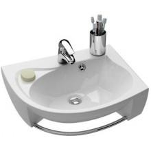 RAVAK ROSA špeciálne umývadlo nábytkové 566x466x150mm z liateho mramoru, pravé s otvorom, biela