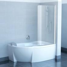 RAVAK ROSA CVSK1 160/170 vaňová zástena 1000x1500mm jednodielna, pravá biela/transparent