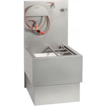 AZP BRNO VLK 03 výlevka 600x1250mm, s roštom, hadicou a kohúty, pre vylievanie chemických WC, závesná, nerez