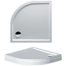 RIHO DAVOS 281 sprchová vanička 90x90x4,5cm, štvrťkruh, s nohami a panelom, akrylát, biela