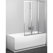 RAVAK VS3 130 vaňová zástena 1296x1400mm trojdielna, skladacie biela / rain 795V010041