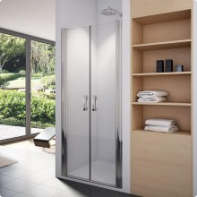 SANSWISS SWING-LINE SL2 sprchové dvere 1000x1950mm, dvojkrídlové, aluchrom/číre sklo Aquaperle