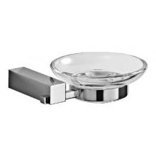 JIKA CUBITO držiak so sklenenou mydleničkou 135x123x40mm chróm / transparentné sklo 3.8473.1.004.000.1
