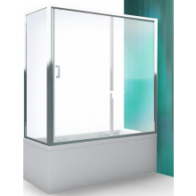 ROLTECHNIK LLV2 vaňová zástena 1600x1500mm, s posuvnými dverami, univerzálna, brillant/transparent
