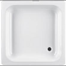 JIKA SOFIA vanička sprchová oceľová 800x800x135mm štvorcová, biela 2.1408.0.000.011.1