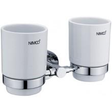 NIMCO UNIX držiak s pohárom 210x110mm chróm/biela