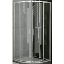 SANSWISS TOP LINE TER sprchový kút 800x1900mm, štvrťkruh, s dvojkrídlovými dverami, aluchróm/číre sklo