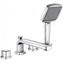 KLUDI Q-BEO vaňová/sprchová batéria DN15, stojančeková, kohútiková, 4-otvorová, chróm