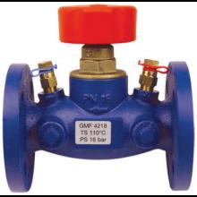 HERZ STRÖMAX-GMF vyvažovací ventil DN25 priamy, s meracími ventilčekmi, prírubový