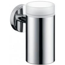 HANSGROHE LOGIS pohár na ústnu hygienu 126mm, chróm/sklo