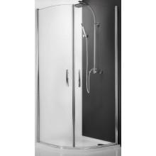 ROLTECHNIK TOWER LINE TR1/1000 sprchový kút 1000x2000mm štvrťkruhový, s dvojkrídlovými otváracími dverami, bezrámový, striebro/transparent