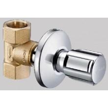"""SCHELL COMFORT ventil podomietkový DN20, G3/4"""" uzatvárací a regulačný s rukoväťou, vnútorný závit, mosadz/chróm"""