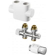 CONCEPT SADA 1 pripojovacia sada Multiblock T/UNI SH pre kúpeľňové vykurovacie telesá, priama, biela