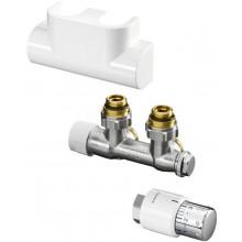 CONCEPT SADA 2 pripojovacia sada Multiblock T/UNI SH pre kúpeľňové vykurovacie telesá, rohová, biela