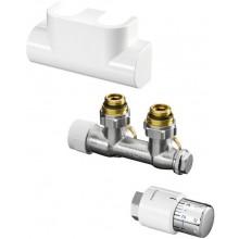CONCEPT SADA 4 pripojovacia sada Multiblock T / UNI SH pre kúpeľňové vykurovacie telesá, rohová, chróm